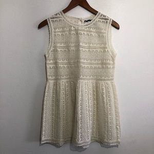 Comme Toi lace peplum tank top